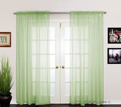 Emerald Green Curtain Panels by Curtains Amazing Green Voile Curtains Details About Voile