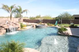 Lagoon Swimming Pool Designs by Freeform Lagoon Style Pool In Scottsdale Az By Unique Landscapes