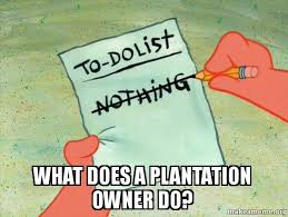 Southern Memes - what does a plantation owner do southern colonies meme make a meme