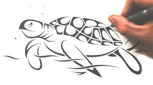 drawn sea turtle simple pencil and in color drawn sea turtle simple