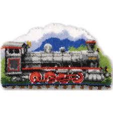 Vervaco Latch Hook Rug Kits Vervaco Steam Train Shaped Latch Hook Kit Herrschners Latch