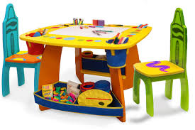 Table And Chair Sets Grow U0027n Up Crayola Wooden Kids 3 Piece Table And Chair Set