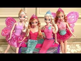 mermaid anna u0026 mermaid elsa playing fairytale dress