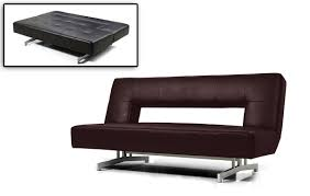 nice sofa bed fold out brown leatherette sofa bed