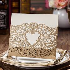 rustic pocket wedding invitations amazon com wishmade laser cut invitations cards sets gold 50