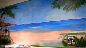 fitness room beach mural cny murals youtube fitness room beach mural cny murals