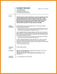 Resume Examples For College Students Internships 100 Sample Resume Templates For College Students How To Format