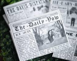 newspaper wedding programs mini newspaper wedding program