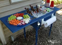 How To Make A Sewing Table by This Wonderful Party Station Was Once A Sewing Table How To