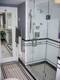 Retro Bathroom Rugs Chris Black And White Tile Bathroom Includes A Tile Rug Black