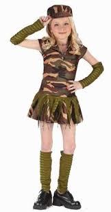 Kids Girls Halloween Costumes Kids Girls Army Brat Military Halloween Costume Small Product