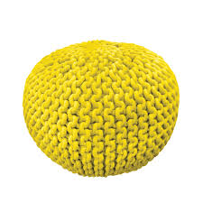 furniture knitted pouf in solar burst by knit pouf ottoman knit