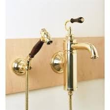 Wall Mount Kitchen Faucet by Sink U0026 Faucet Beautiful Polished Brass Kitchen Faucet Hanno Wall