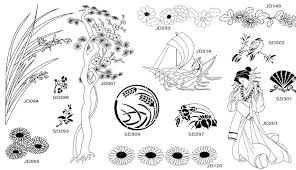 japanese graphic arts authentic designs