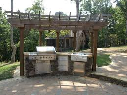 Small Space Backyard Ideas Exterior Simple Vintage Outdoor Kitchen Patio Designs Using