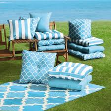 Outdoor Bistro Chair Cushions Turquoise Stripe Indoor Outdoor Bistro Chair Cushion