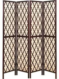 Tri Fold Room Divider Screens Lyke Home Brown Off White Wood Tri Fold Room Divider Screens