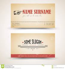 vector old style retro vintage business card template stock
