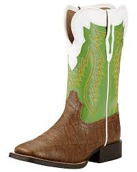 ariat youth gold buscadero kids square toe elephant print boots