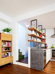 Design Ideas For Kitchens Without Upper Cabinets HGTV - Kitchen shelves and cabinets