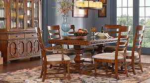 bleecker street cherry 7 pc rectangle dining room dining room