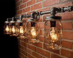 diy mason jar light with iron pipe mason jar light fixture industrial light light rustic light