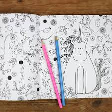 unicorn colouring book by neon magpie notonthehighstreet com