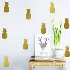 Silver And Gold Home Decor by Fruit Pineapple Wall Stickers For Kids Room Wall Decals Home Decor