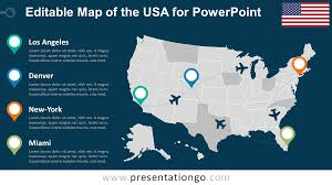 American Flag Powerpoint Background Us Map Powerpoint Background Map Of Usa And Flag Powerpoint