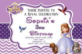sofia the birthday princess sofia the birthday invitations