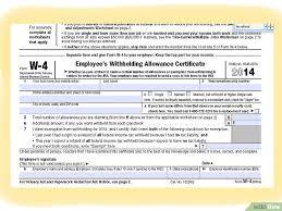 W4 Worksheet Cara Mengisi Formulir W 4 Wikihow