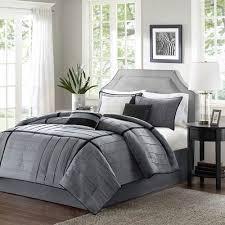 Grey Comforters Queen Contemporary Comforter Sets Bellacor