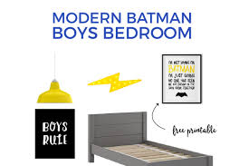 Batman Boys Bedroom How To Make A Modern Batman Themed Boys Room He U0027ll Love Spending