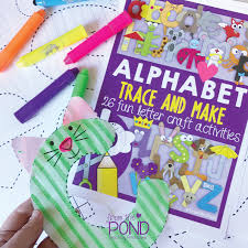 trace and make letter crafts frog spot