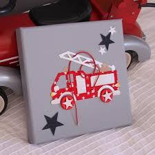 chambre garcon pompier cadre camion de pompier décoration chambre pompier