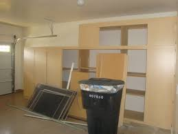 unfinished diy custom garage cabinet using plywood for garage with