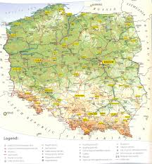 Topographical Map Of Europe by Maps Of Poland Detailed Map Of Poland In English Tourist Map