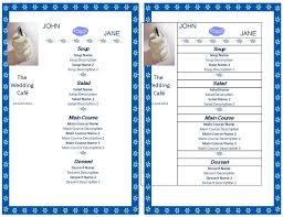 wedding menu template wedding menu template templates