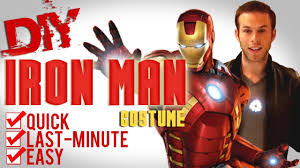 ironman halloween costume diy iron man tony stark arc reactor youtube