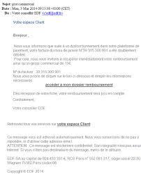 edf si e social adresse phishing alerte aux courriels frauduleux edf guyane