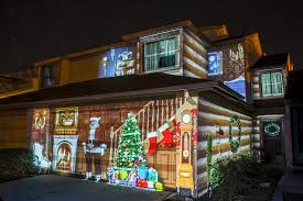 christmas projection lights christmas house projection mapping