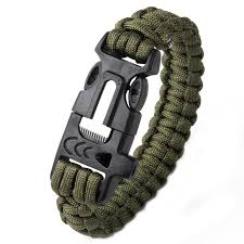 survival bracelet whistle images Outdoor camping survival bracelet parachute cord scraper whistle jpg