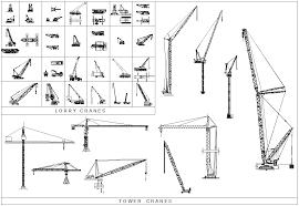 2d cad collection cranes cadblocksfree cad blocks free