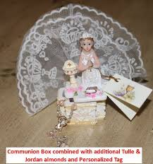First Communion Jewelry Box Boy Or Jewelry Rosary Box First Communion Favors