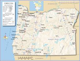 Map Of Usa Capitals by Reference Map Of Oregon Usa Nations Online Project