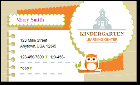 childcare business cards child care business cards template 5 child care owner