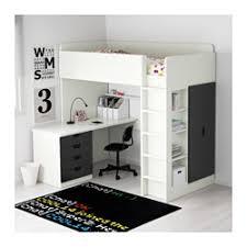 lit mezzanine noir avec bureau stuva combi lit mezz 4 tir 2 ptes blanc noir lits mezzanine