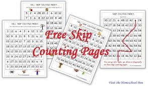 fall skip counting pages for 2s 3s 4s 5s 6s free