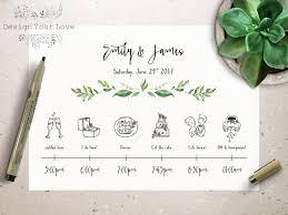 wedding itinerary template wedding timeline printable wedding itinerary template green