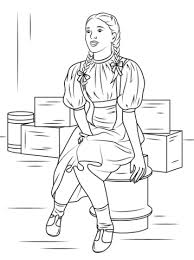 dorothy gale coloring page free printable coloring pages